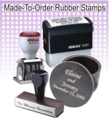 Made-To-Order Rubber Stamps